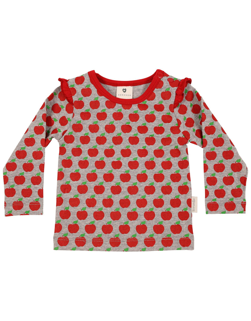 A1109 My Little Apple Top-Tops-Korango_Australia-Kids_Fashion-Children's_Wear