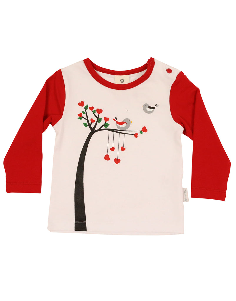 A9009R Love Birds Top-Tops-Korango_Australia-Kids_Fashion-Children's_Wear