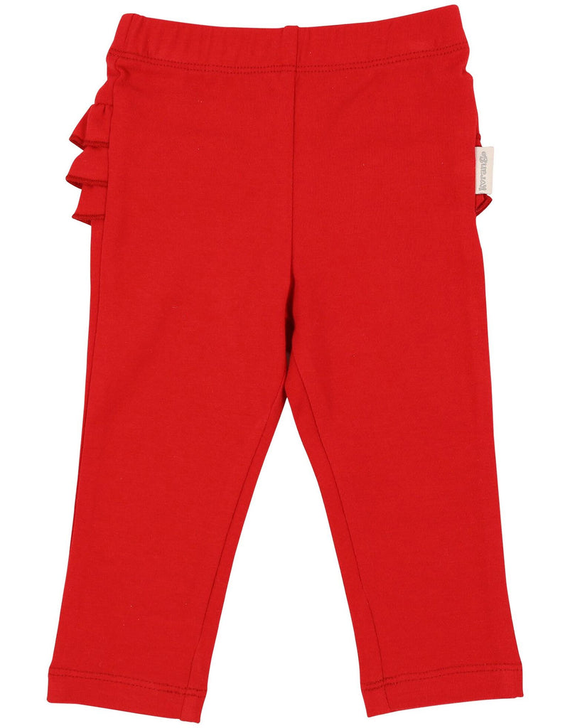A1110R My Little Apple Ruffle Leggings-Leggings-Korango_Australia-Kids_Fashion-Children's_Wear