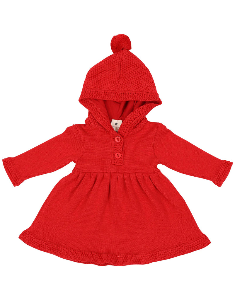 A1111 My Little Apple Knit Dress-Dresses-Korango_Australia-Kids_Fashion-Children's_Wear