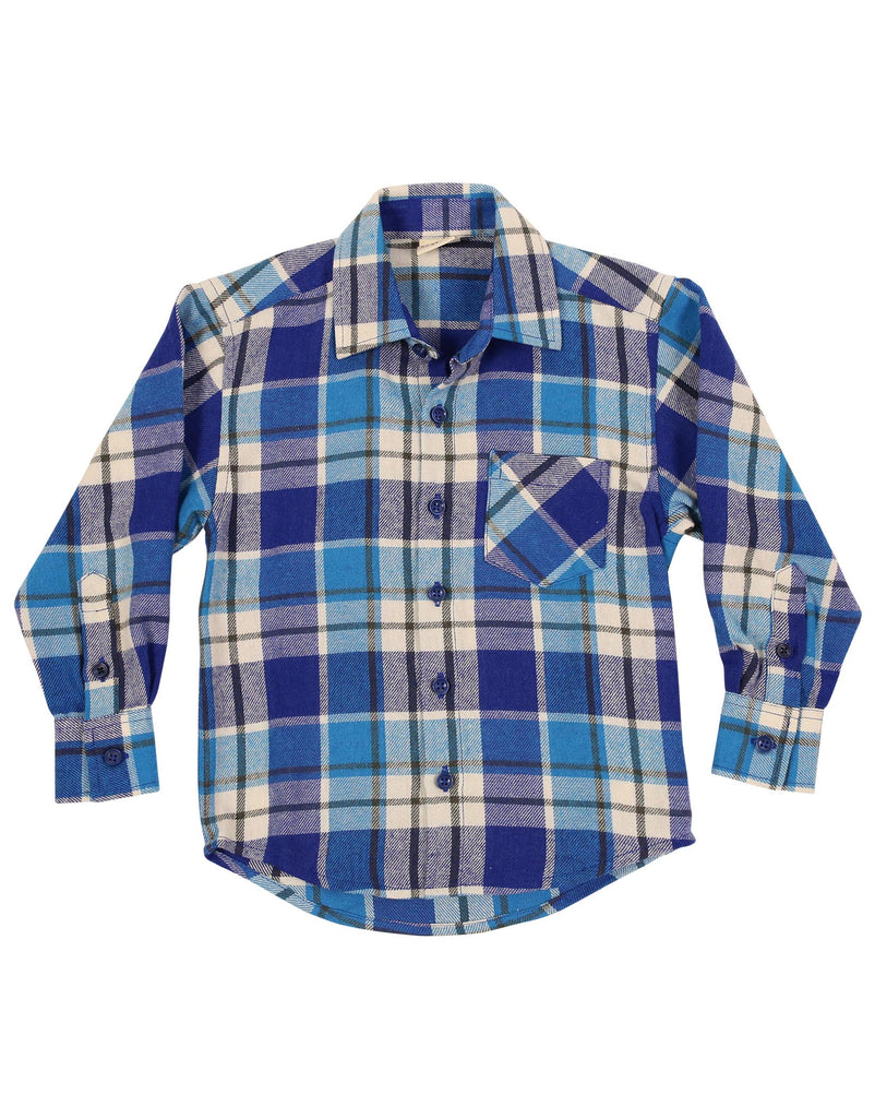 A1119B Bear in There Bear Check Flannel Shirt-Tops-Korango_Australia-Kids_Fashion-Children's_Wear