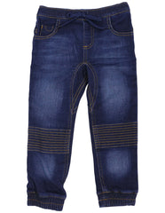 A1120 Bear in There Denim Knit Pant-Pants & Shorts-Korango_Australia-Kids_Fashion-Children's_Wear