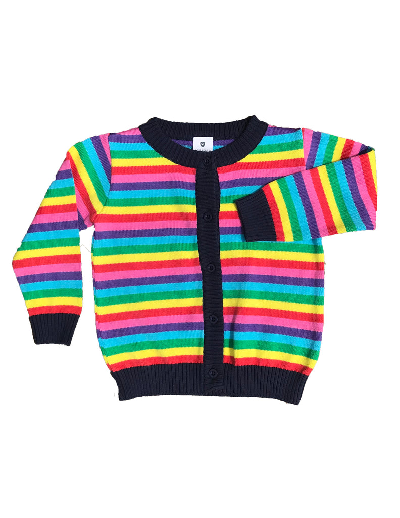A1124S Winter Rainbow Cardigan.-Cardigan-Korango_Australia-Kids_Fashion-Children's_Wear