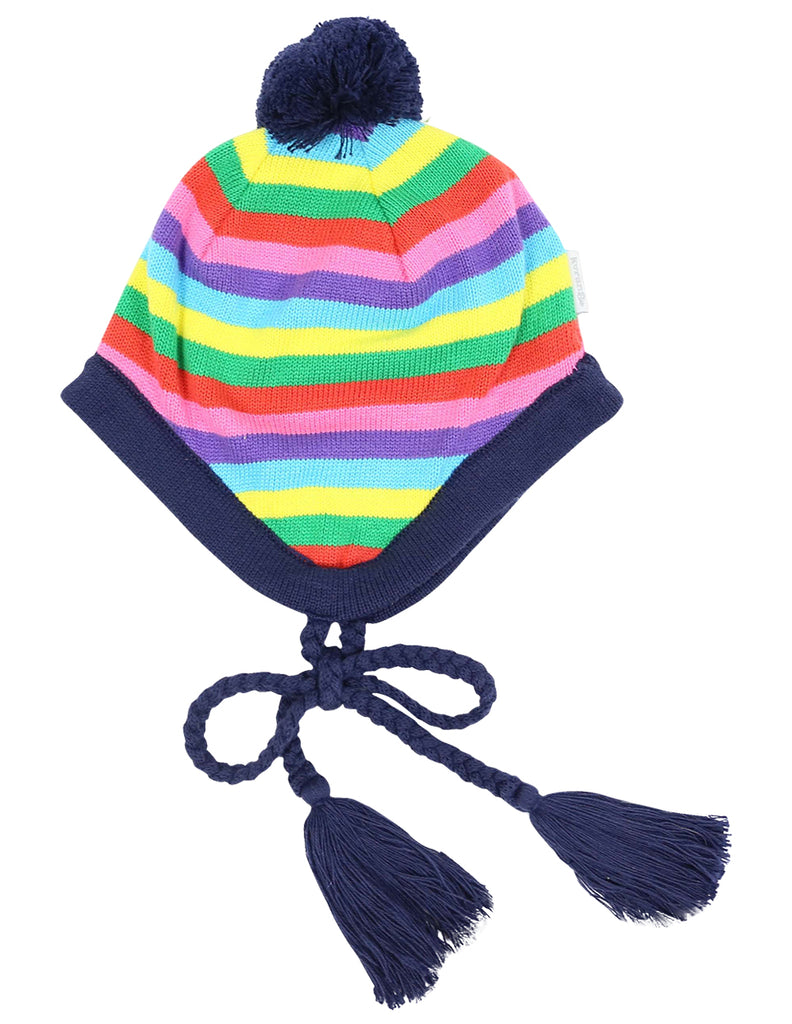A1127S Winter Rainbow Lined Beanie-Accessories-Korango_Australia-Kids_Fashion-Children's_Wear