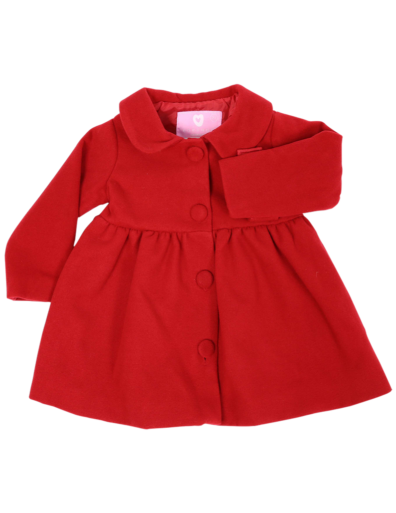 A1112 My Little Apple Overcoat-Cardigans/Jackets/Sweaters-Korango_Australia-Kids_Fashion-Children's_Wear