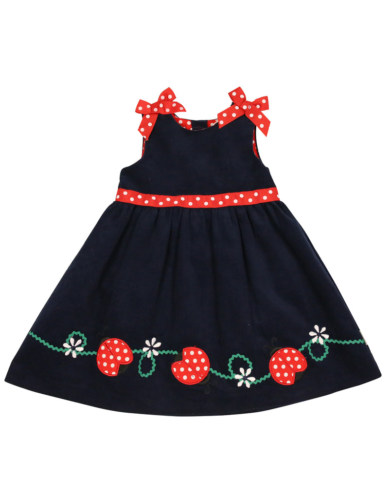 A9023 Ladybug Ladybug Bow Dress-Dresses-Korango_Australia-Kids_Fashion-Children's_Wear