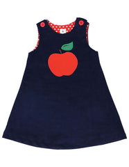 A1131N Cheeky Apple Cord Dress-Dresses-Korango_Australia-Kids_Fashion-Children's_Wear
