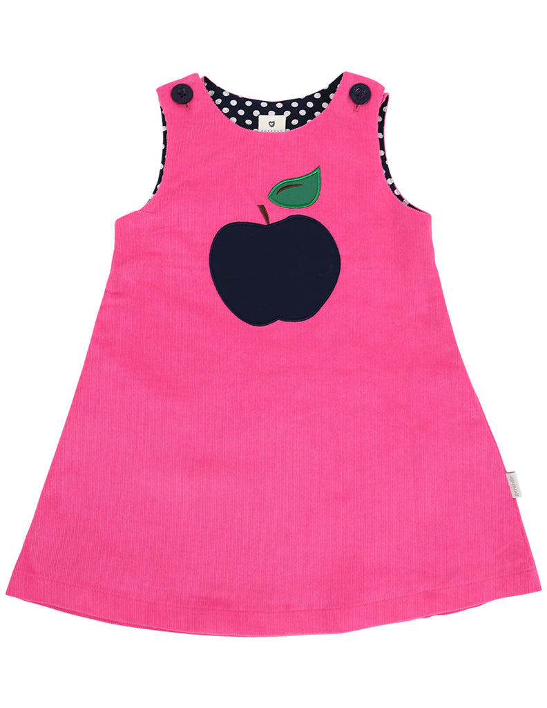 A1131P Cheeky Apple Cord Dress-Dresses-Korango_Australia-Kids_Fashion-Children's_Wear