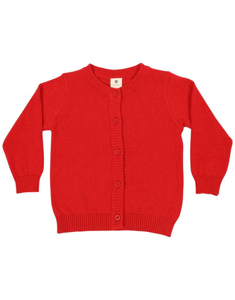 A1132R Cheeky Apple Cardigan-Cardigans/Jackets/Sweaters-Korango_Australia-Kids_Fashion-Children's_Wear