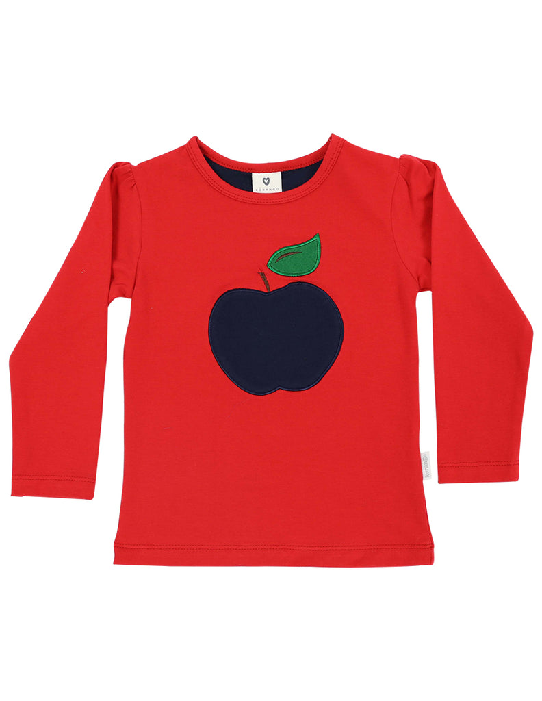 A1133R Cheeky Apple Top-Tops-Korango_Australia-Kids_Fashion-Children's_Wear