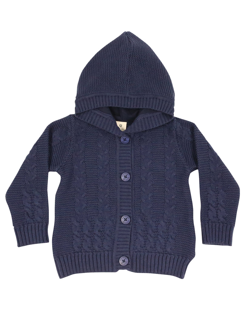 A9049N Snowflakes Knit Jacket-Cardigan/Jackets/Sweaters-Korango_Australia-Kids_Fashion-Children's_Wear