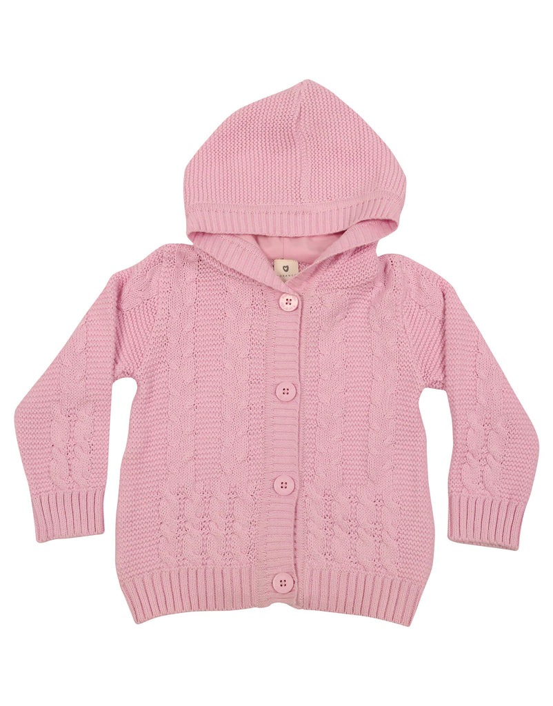 A9049P Snowflakes Knit Jacket-Cardigan/Jackets/Sweaters-Korango_Australia-Kids_Fashion-Children's_Wear