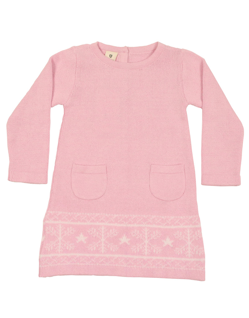 A9050P Snowflakes A-line Knit dress-Dresses-Korango_Australia-Kids_Fashion-Children's_Wear