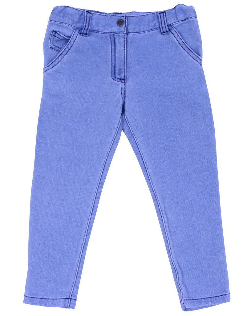 A9063 Singing in the Rain Denim Knit Jean-Pants & Shorts-Korango_Australia-Kids_Fashion-Children's_Wear