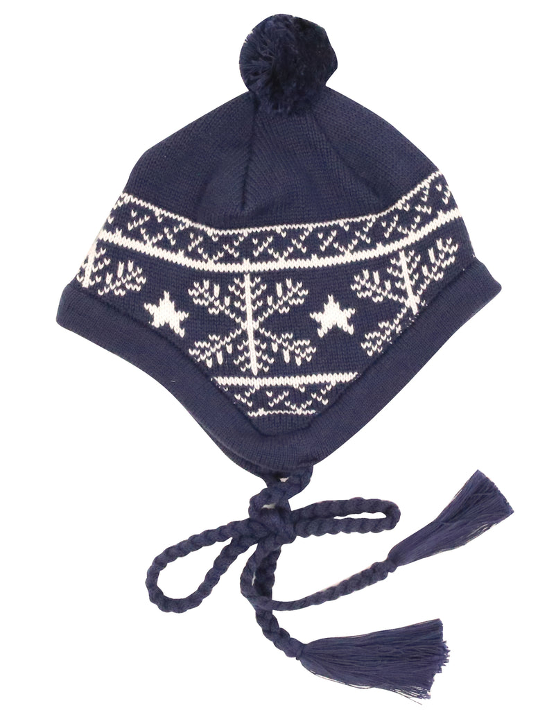 A9054 Snowflakes Beanie-Accessories-Korango_Australia-Kids_Fashion-Children's_Wear