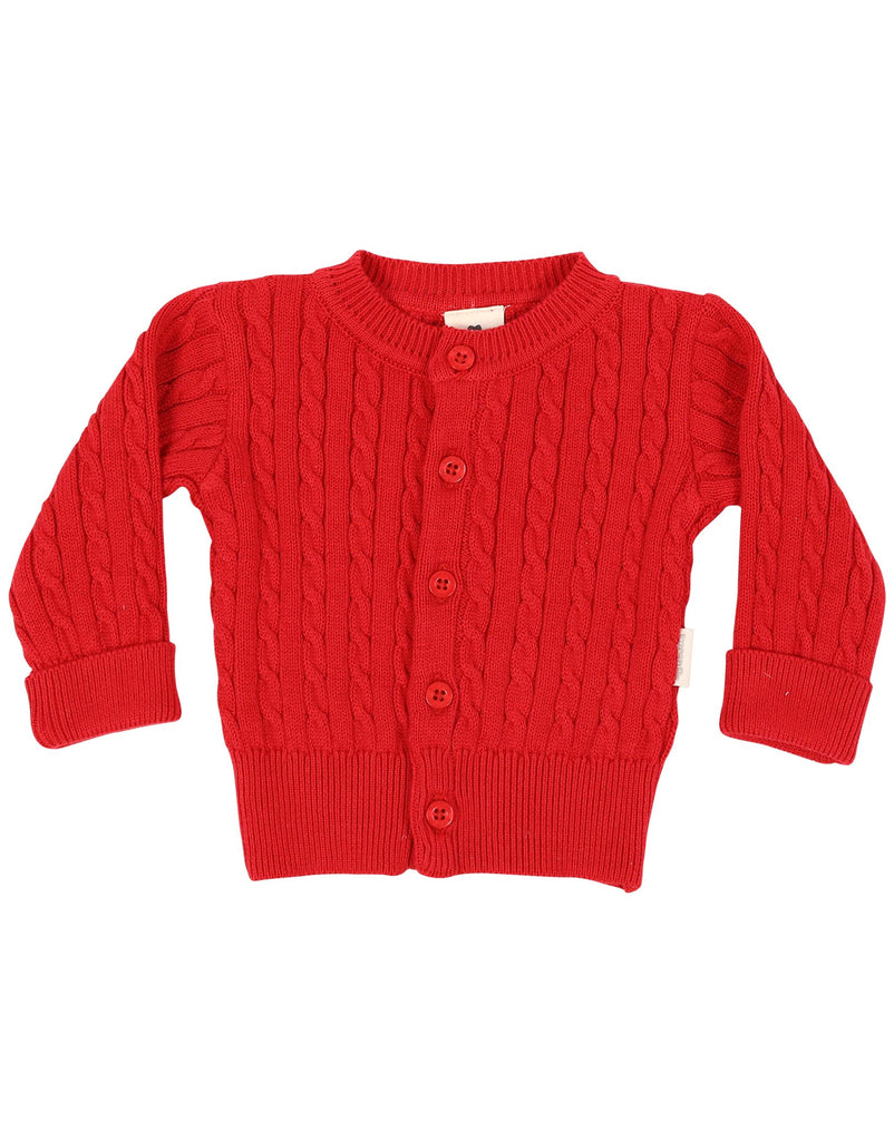 B1102 Mr Fox Cable Knit Jacket-Cardigans/Jackets/Sweaters-Korango_Australia-Kids_Fashion-Children's_Wear