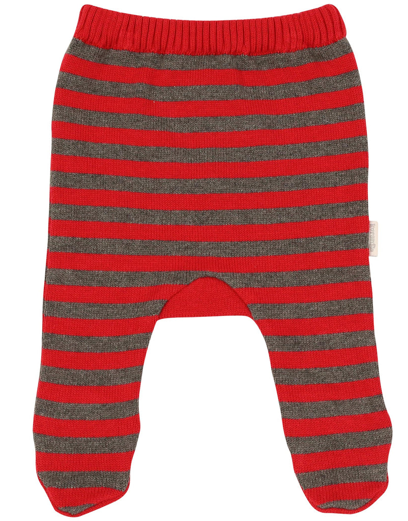 B1103 Mr Fox Striped Knit Legging-Leggings-Korango_Australia-Kids_Fashion-Children's_Wear