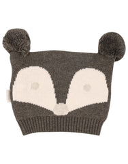 B1107 Mr Fox Beanie-Accessories-Korango_Australia-Kids_Fashion-Children's_Wear