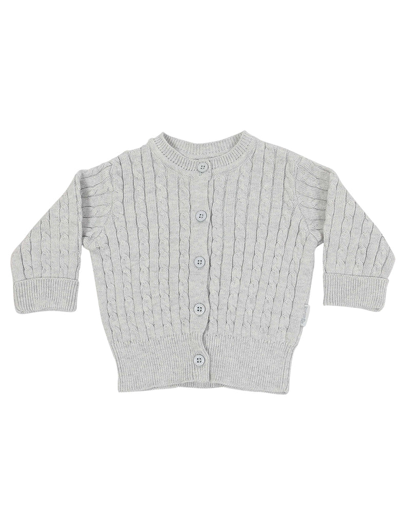 B1111 Little Fawn Cable Knit Jacket-Cardigans/Jackets/Sweaters-Korango_Australia-Kids_Fashion-Children's_Wear