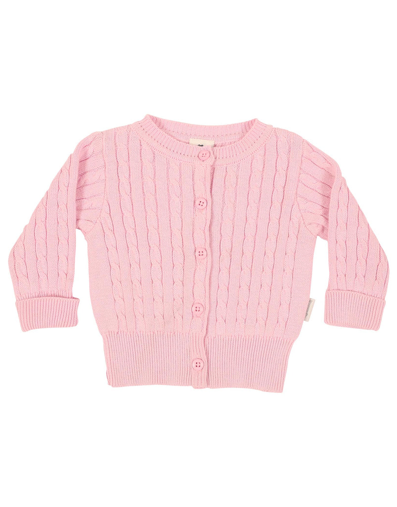 B1111 Little Fawn Cable Knit Jacket