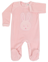 B1120P Baby Bunny Velour Romper-All in Ones-Korango_Australia-Kids_Fashion-Children's_Wear