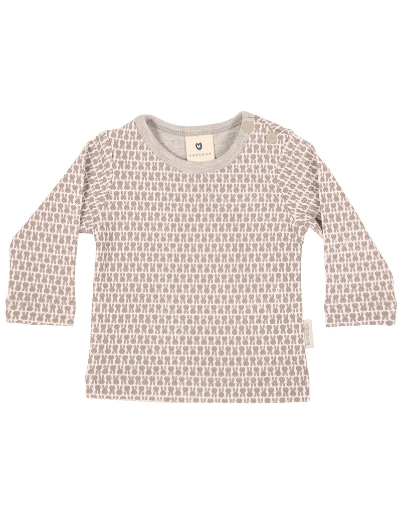B1122W Baby Bunny Top-Tops-Korango_Australia-Kids_Fashion-Children's_Wear