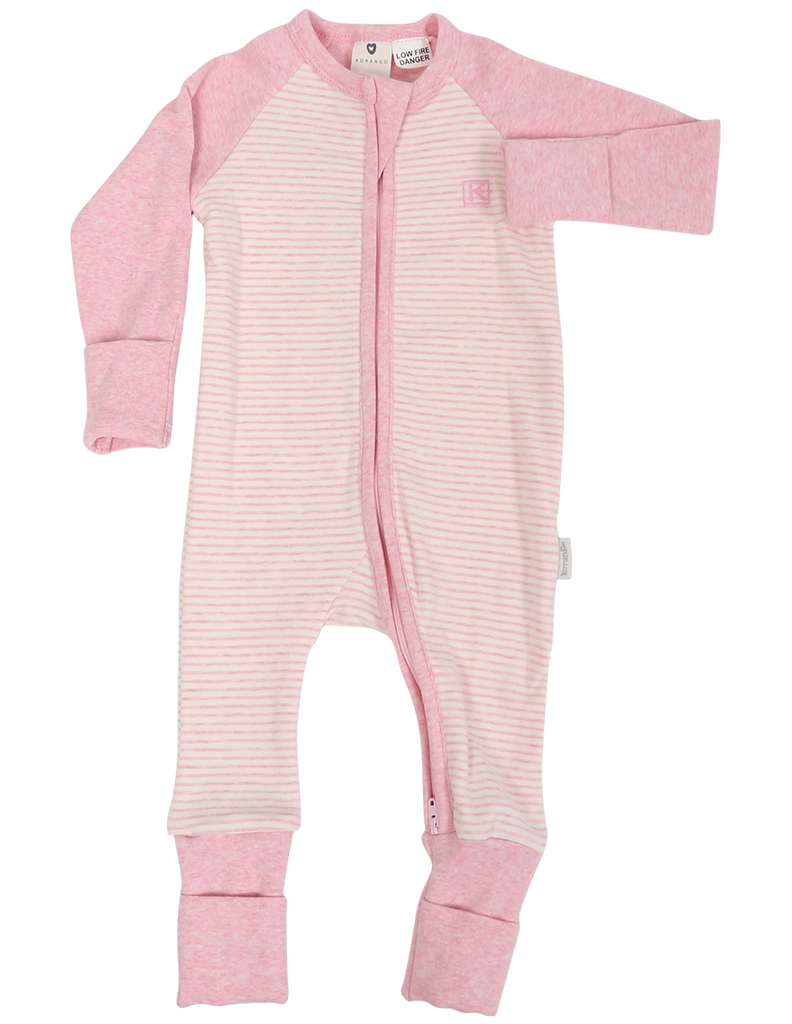 B1126 Panda Zip Romper-All in Ones-Korango_Australia-Kids_Fashion-Children's_Wear