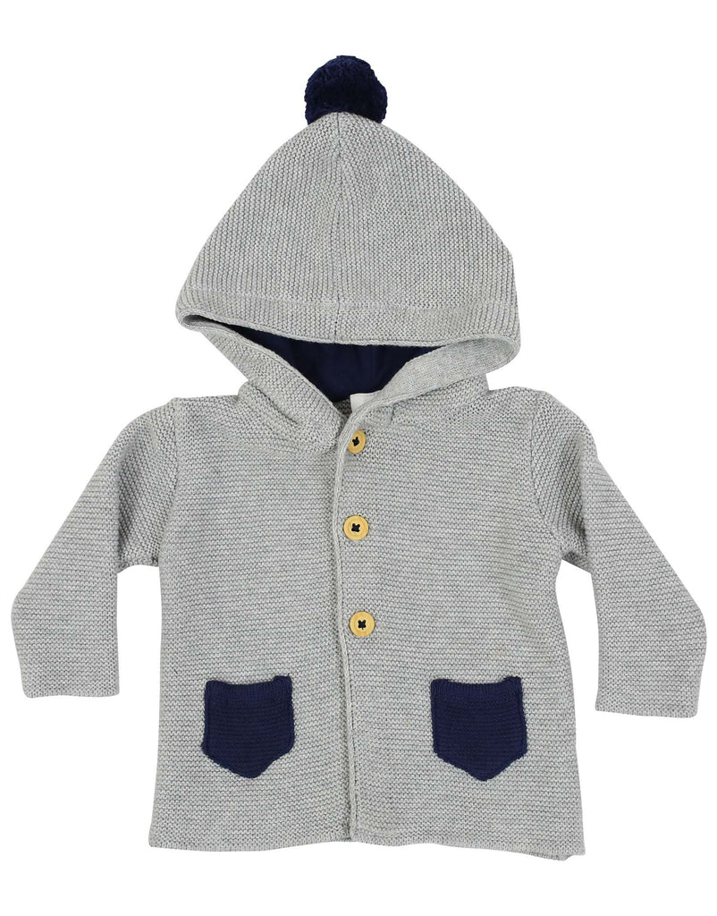 B1133G Baby Gifts Hooded Knit Jacket-Cardigans/Jackets/Sweaters-Korango_Australia-Kids_Fashion-Children's_Wear