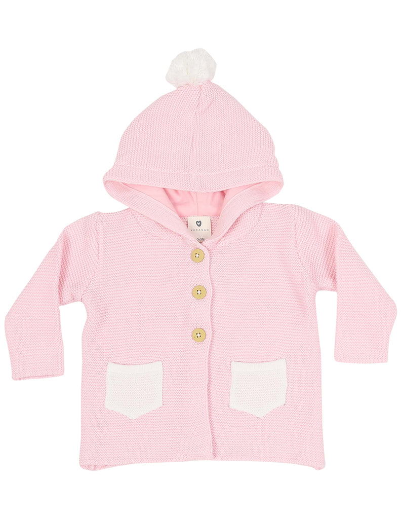 B1133 Baby Gifts Hooded Knit Jacket-Cardigans/Jackets/Sweaters-Korango_Australia-Kids_Fashion-Children's_Wear