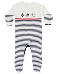 C1116 Little Boater Knit Sailor Romper-All in Ones-Korango_Australia-Kids_Fashion-Children's_Wear