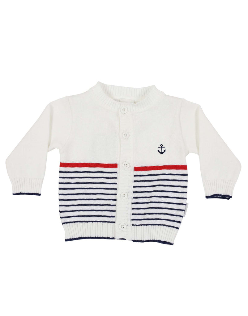 C1117 Little Boater Cardigan-Cardigans/Jackets/Sweaters-Korango_Australia-Kids_Fashion-Children's_Wear