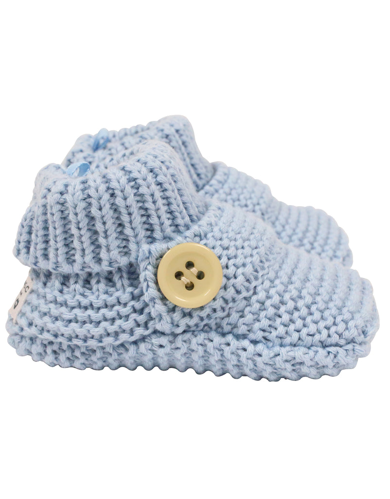 C7023B Knitted Booties Button Bootie-Accessories-Korango_Australia-Kids_Fashion-Children's_Wear