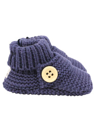 C7023N Knitted Booties Button Bootie-Accessories-Korango_Australia-Kids_Fashion-Children's_Wear