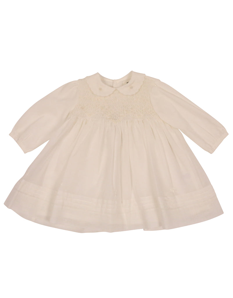 C90021 Rosettes Voile Smocked Dress-Dresses-Korango_Australia-Kids_Fashion-Children's_Wear