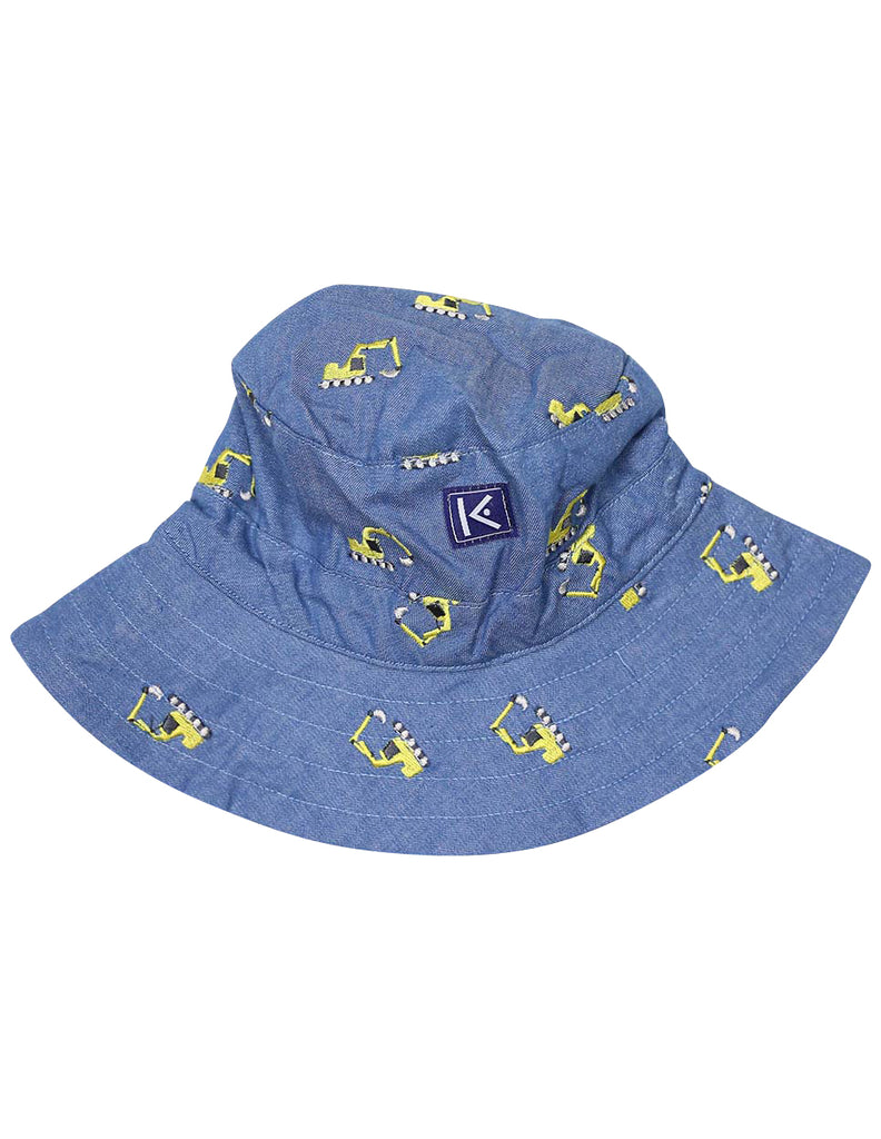 A1406C Excavators Chambray Sun Hat