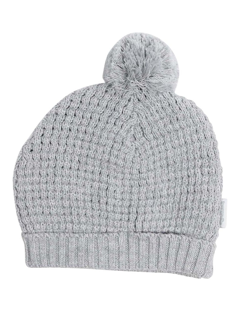 A1331G City Knit Beanie with Pom Pom