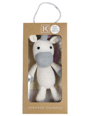 B13029U  Essentials Unicorn Hand Crocheted Toy