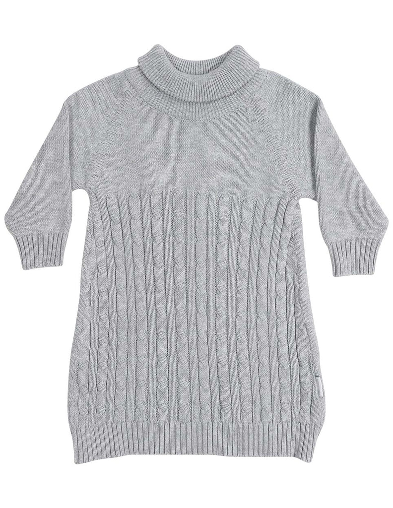 A1337G Stars Turtle Neck Cable Knit Dress