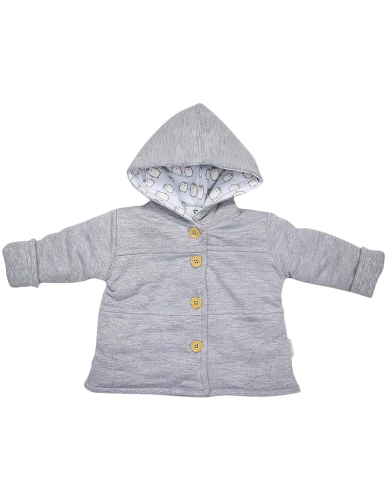 B13019G  Baby Penguin Lined Hooded Jacket