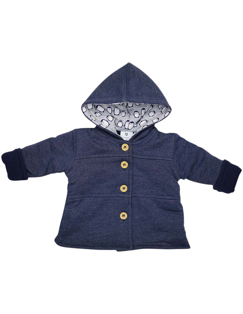 B13019N Baby Penguin Lined Hooded Jacket