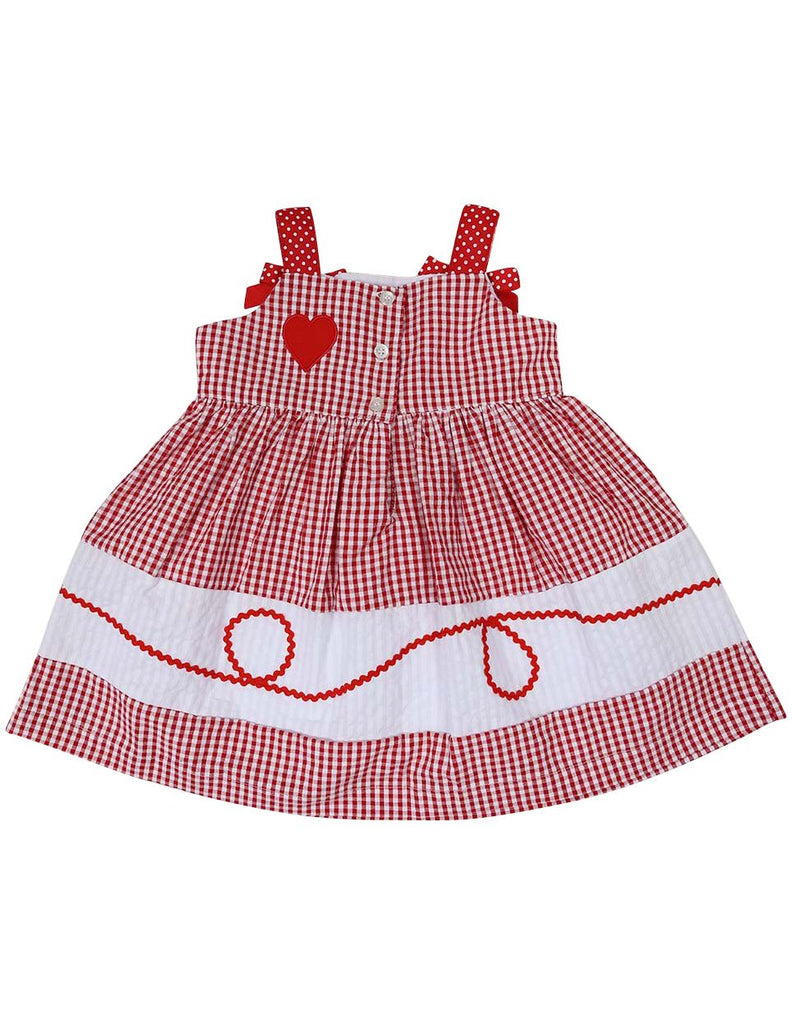 A1216R Seersucker Heart Dress-Dress-Korango_Australia-Kids_Fashion-Children's_Wear