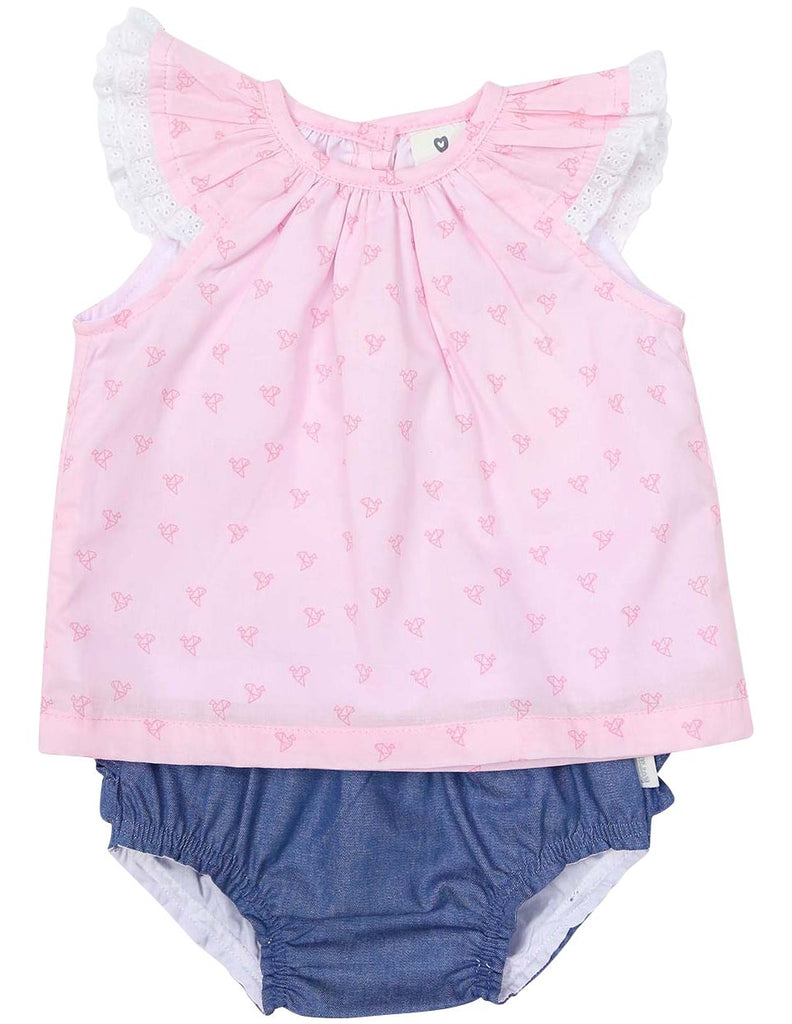 B1226P Origami Blouse & Frill Pant-Sets-Korango_Australia-Kids_Fashion-Children's_Wear