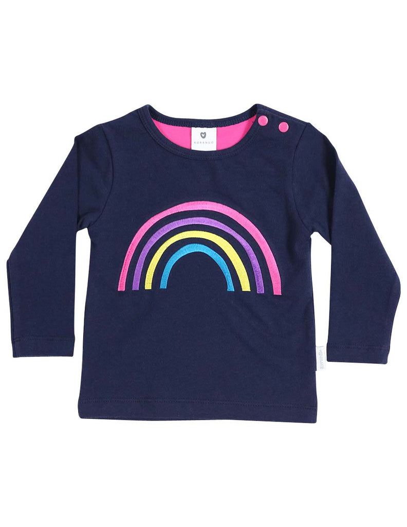 A1357N Standing out from the Crowd Long Sleeve Tee Rainbow Stripe