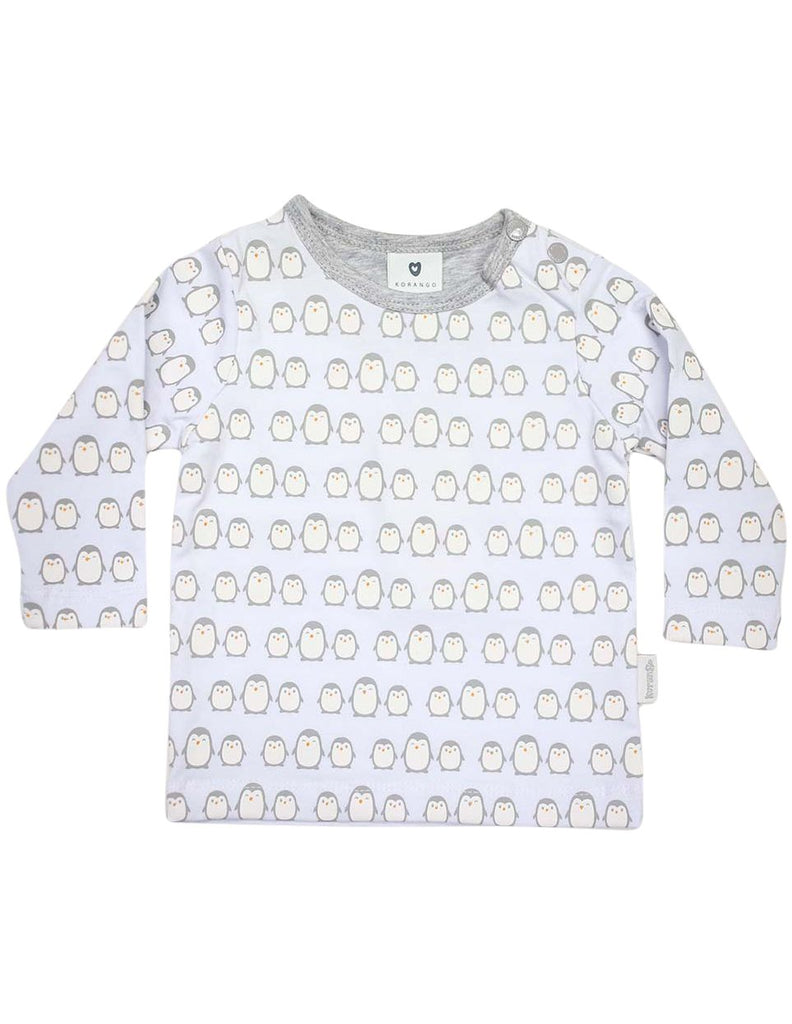 B13020G  Baby Penguin Printed Long Sleeve Top