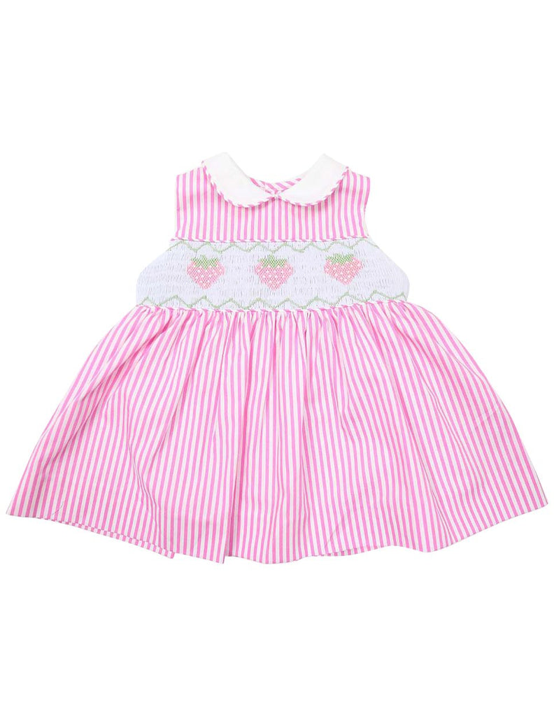 C1223P Strawberry Collared Dress-Dress-Korango_Australia-Kids_Fashion-Children's_Wear