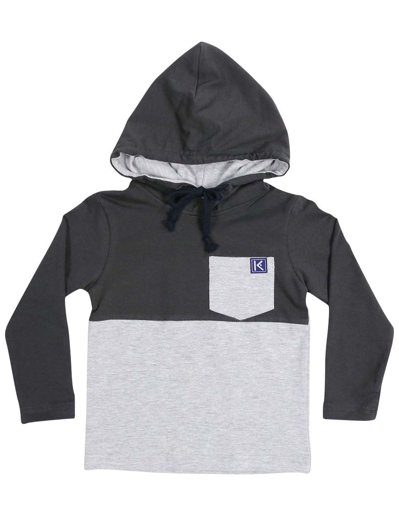A1329C City Long Sleeve Hooded Pocket Tee