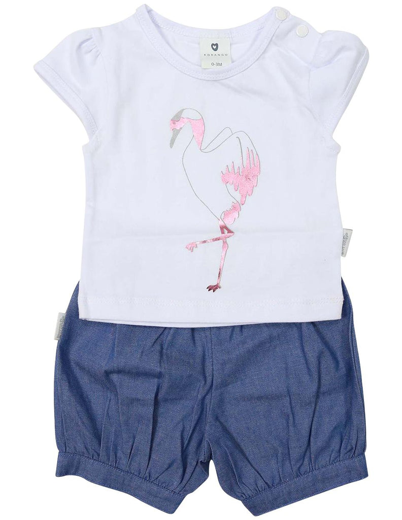 B1227P Origami Frill Top & Short-Sets-Korango_Australia-Kids_Fashion-Children's_Wear