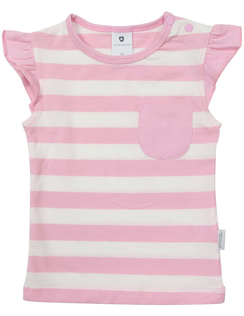 A1236P Striped Pocket Tee-Tops-Korango_Australia-Kids_Fashion-Children's_Wear