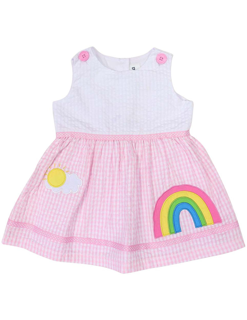 A1215P Seersucker Rainbow Dress