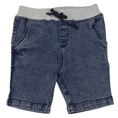 A1418L Into Space Denim Look Shorts
